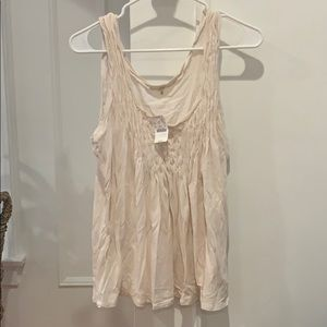 NWT jcrew cream detail tank